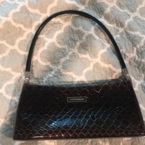 Vittorio brown ombre croc purse